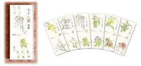 泰山堂オリジナル七十二候新撰 2020カレンダー季節の動植物の彩色画と七十二候暦