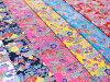 紅型(びんがた)山花文様全6色【布地生地和柄沖縄】【MT1350-70】
