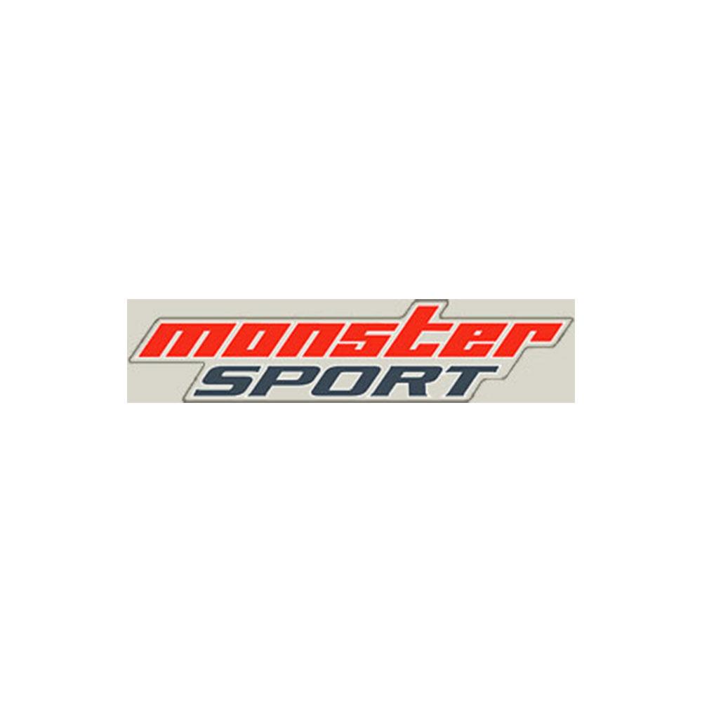 モンスタースポーツ ステッカー*Monster Sport*スイフト/ジムニー/ランサーエボリューション/86【NEWモンスタースポーツステッカー(クリア×レッド×ダークグレー)】330×75【896112-0000M】