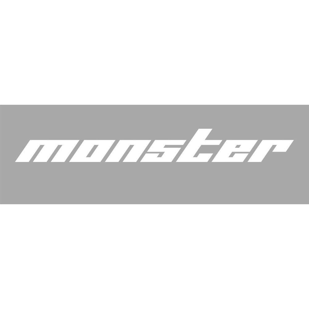 モンスタースポーツ ステッカー*Monster Sport*スイフト/ジムニー/ランサーエボリューション/86【切り文字ステッカー(白小)】370×45【896147-0000M】
