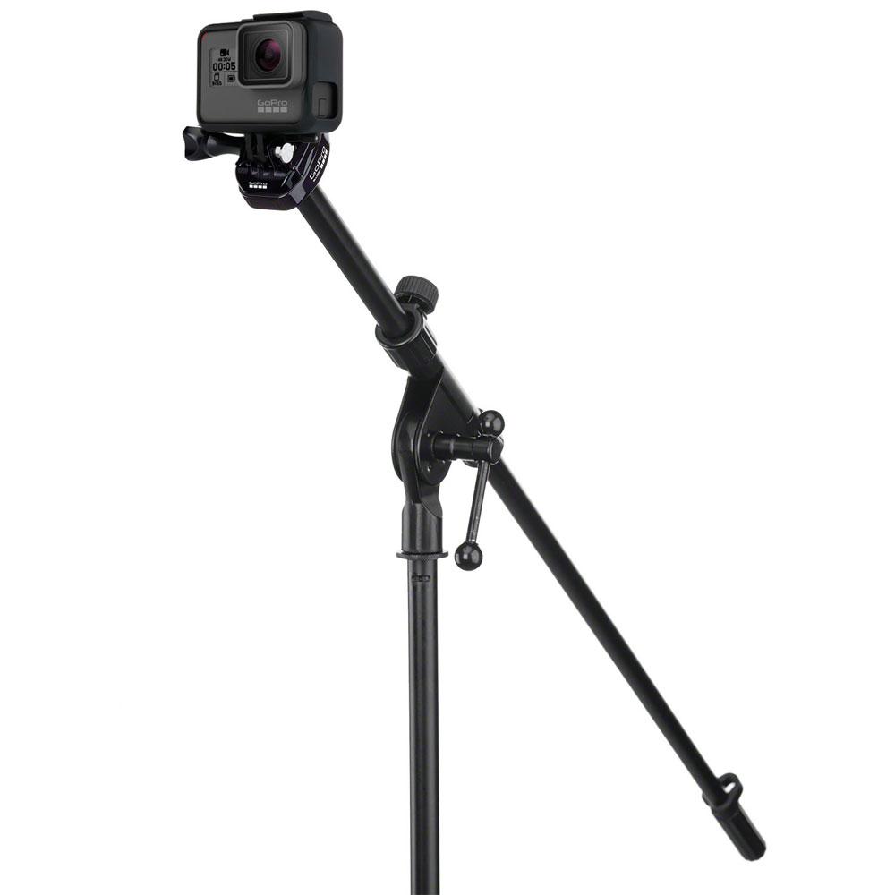 GoProMicスタンドマウント *GoPro純正アクセサリー・マウント:GoProをマイクスタンドに取り付けて、練習中や演奏中の映像を撮影しよう【ABQRM-001】