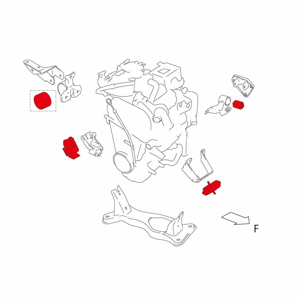 ブッシュ・マウント【エンジンマウント】アルト,ワゴンR,セルボモード*送料・代引手数料無料!【647500-2000M】