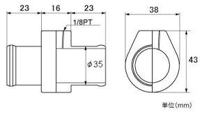 メーター【水温センサーアタッチメント】ランサーエボリューション用φ35mm【882300-0035M】