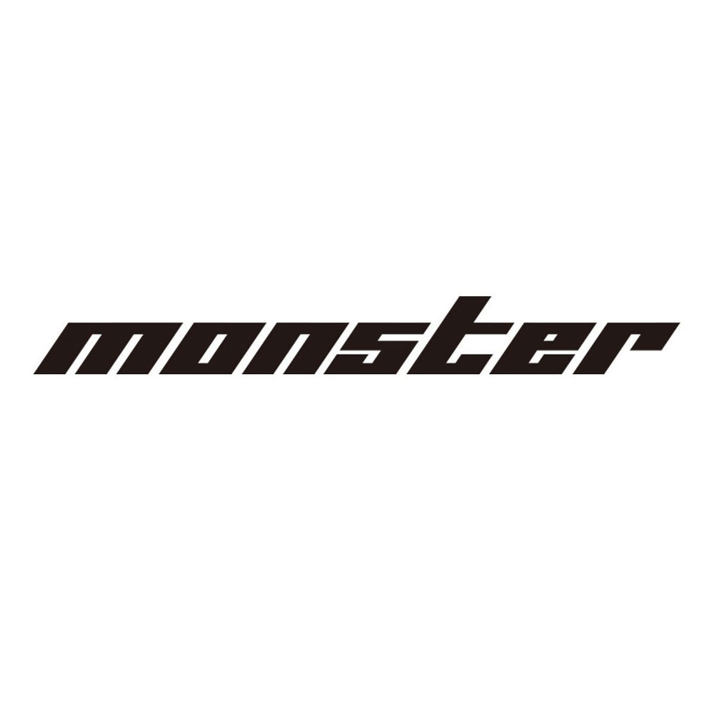 モンスタースポーツ ステッカー*Monster Sport*スイフト/ジムニー/ランサーエボリューション/86【切り文字ステッカー(黒大)】745×90【896134-0000M】