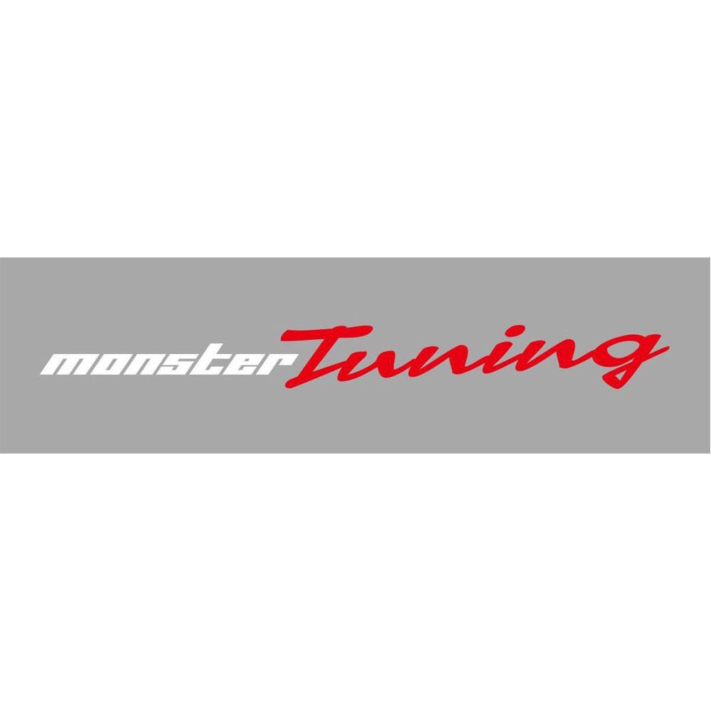 モンスタースポーツ ステッカー*Monster Sport*スイフト/ジムニー/ランサーエボリューション/86【MONSTER Tuningステッカー ホワイト×レッド】620×63【896155-0000M】
