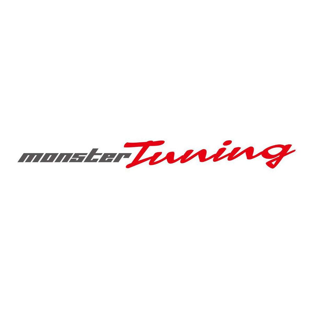 モンスタースポーツ ステッカー*Monster Sport*スイフト/ジムニー/ランサーエボリューション/86【MONSTER Tuningステッカー ガンメタ×レッド】620×63【896156-0000M】