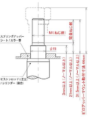 ブッシュ・マウント【ピロアッパーマウントセット
