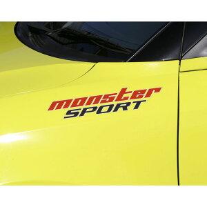 MONSTERステッカー【NEWモンスタースポーツステッカー(クリア×レッド×ダークグレー)】330×75
