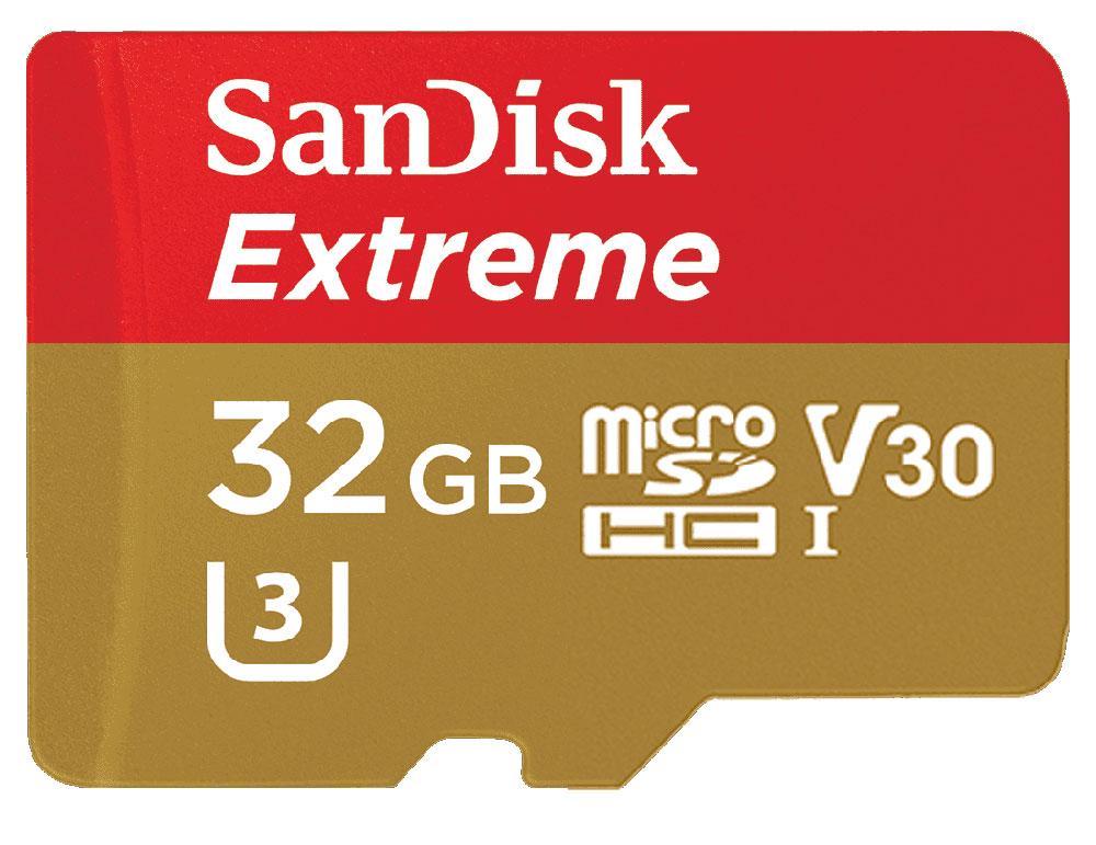 GoPro向けSDカード【SanDisk(サンディスク) microSDHCカード 32GB】*送料・代引手数料無料!ゴープロカメラに理想的!【SDSQXVF-032G3】
