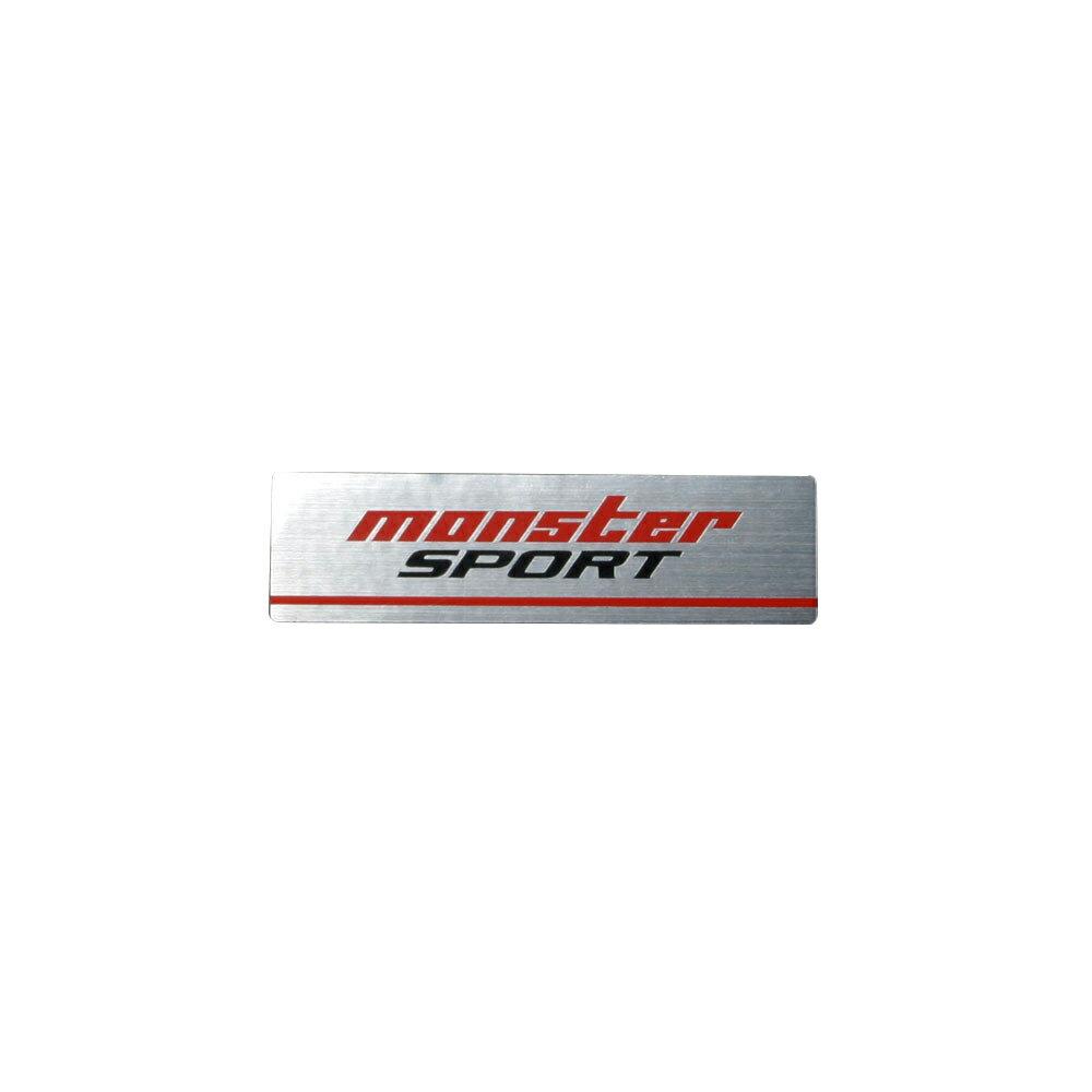 モンスタースポーツ ステッカー*Monster Sport*スイフト/ジムニー/ランサーエボリューション/86【NEWモンスターステッカー アルミタイプ(アルミヘアラインXレッド×グレー)】60×16.5【896113-0000M】