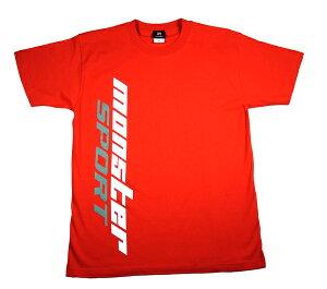 ウェア【モンスタースポーツビッグロゴTシャツ(半袖/レッド/サイズ:XL)】【ZWS25XL】