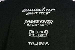 ウェア【モンスタースポーツビッグロゴTシャツ(半袖/ブラック/サイズ:L)】【ZWS27KL】