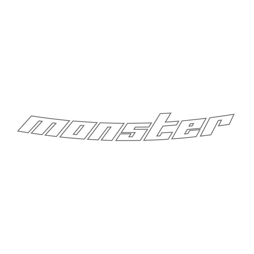 モンスタースポーツ ステッカー*Monster Sport*スイフト/ジムニー/ランサーエボリューション/86【中抜きステッカー [Evo.8ボンネット専用](ガンメタリック)】650×85【ZZZA25】