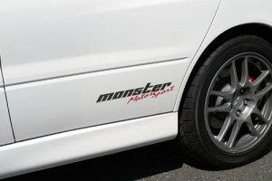 MONSTERステッカー【モータースポーツステッカー(クリア×ガンメタ×レッド)】362×75.5