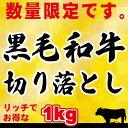 【訳アリ】【送料無料】黒毛和牛 1kg 切り落とし肉 (国内産)たっぷりお得な1kg 小分けで便利(250g×4)牛肉 切落…