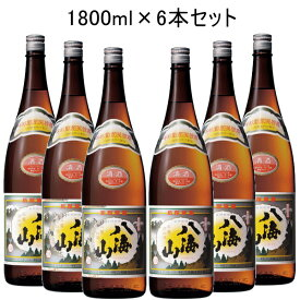 【代引料無料】【日本酒】 新潟南魚沼の地酒『八海山 清酒1800ml 6本セット』八海醸造一升瓶(1.8Lサイズ)
