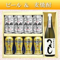 【ビール&日本酒ギフトセット】本格麦焼酎「つくし白」