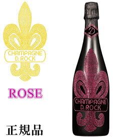 【正規品DROCKシャンパン 】ROSE『 D.ROCK ロゼ 750ml 』クリスタルで飾られたシャンパンボトル!誕生日イベント シャンパンタワー開店御祝 周年記念 ラグジュアリー映えシャンインスタ映え ブラックボトル