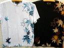 錦 和柄 半袖Tシャツ 紅葉に流水プリント NISHIKI【コンビニ受取対応商品】