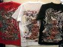 華鳥風月 和柄 半袖Tシャツ 桜と花魁刺繍【コンビニ受取対応商品】