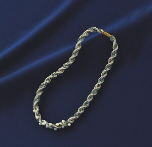 きらめく組紐シリーズネックレス(ディスクあり)[TC-131(ブルー)]【パナミ手芸メーカー直販タカギ繊維】
