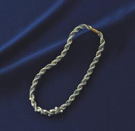 きらめく組紐シリーズ ネックレス(ディスクあり) [TC-131(ブルー)] 【パナミ手芸メーカー直販 タカギ繊維】