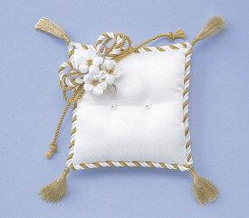 お花のリングピロー [RP-5 (白/金)] 【パナミ手芸メーカー直販 タカギ繊維】