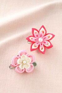 つまみ細工 お花のブローチ [LH-380 (ピンク)] 【パナミ手芸メーカー直販 タカギ繊維】