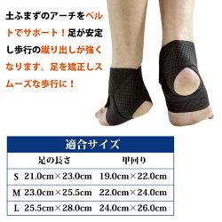 【足底腱膜炎】歩行重視のサポーター「歩けるんデス」(左右1組)