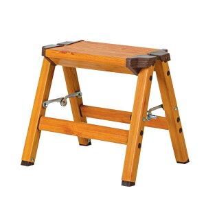 UPDRAFT 木目調アルミ踏み台 1段 DAT-AWN1 おしゃれな踏み台