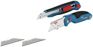 Bosch Professional(ボッシュ) 2種セット:ナイフ(カッター)、カッターナイフ 1600A016BM