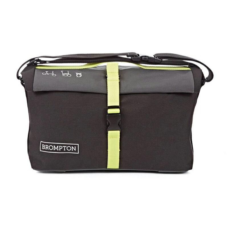 送料無料 並行輸入品 BROMPTON Roll Top Shoulder Bag Gray/Black ブロンプトン ロールトップ ショルダーバッグ グレー/ブラック