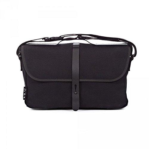 送料無料 並行輸入品 BROMPTON ブロンプトン Shoulder Bag Black ブロンプトン ショルダーバッグ ブラック