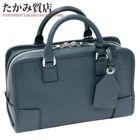 ロエベ アマソナ23 カーフ ブルー 352.12.N71 ハンドバッグ ショルダーバッグ