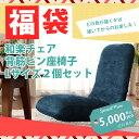 福袋 2021 座椅子二個セット 2個セット 日本製 送料無料 和楽チェアL お得セット