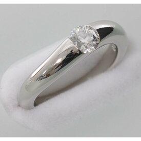 STAR JEWELRY スタージュエリー Pt950 プラチナ950 ダイヤモンド0.315ct リング(指輪)中古品仕上げ済み #5.5号