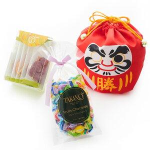 【公式】 新宿高野 勝だるま巾着E 合格祈願 | チョコレート フルーツ ギフト チョコ フルーツチョコレート お取り寄せスイーツ プチギフト お菓子 フルーツチョコ 詰め合わせ だるま 受験 合