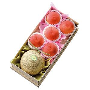 【公式】 新宿高野 マスクメロン&ピーチセット #11129|フルーツ ギフト 果物 くだもの 高級 高級フルーツ お取り寄せ メロン プレゼント お中元 御中元 御中元ギフト 暑中見舞い お礼 桃 もも