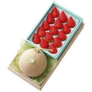【公式】 新宿高野 マスクメロン&紅ほっぺ苺セット #11211 | フルーツ ギフト フルーツギフト 果物 くだもの プレゼント お祝い 御祝 内祝い 内祝 お供え お礼 いちご イチゴ 苺 お見舞い 結婚
