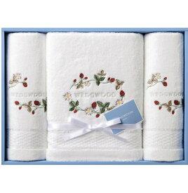 WEDGWOOD ウェッジウッドワイルドストロベリーホワイトコレクション バスタオル&フェイスタオル2Pご挨拶・御礼・出産内祝・結婚内祝・快気祝・法要・香典返し