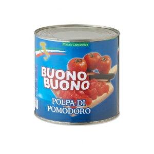 【送料無料(一部地域を除く)】トマトコーポレーション カットトマト缶 業務用 イタリア産 2550g×6缶 【同梱不可】