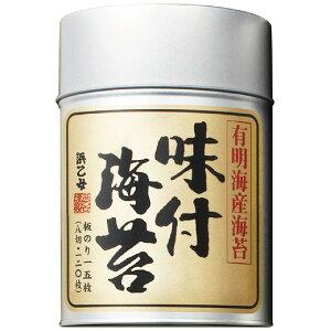 浜乙女 味のり 有明 丸缶8切120枚 ×6缶 【送料無料(一部地域を除く)】