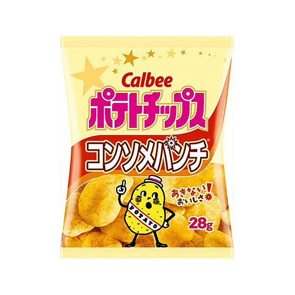 カルビー ポテトチップスコンソメパンチ 28g×24入(HLS_DU)