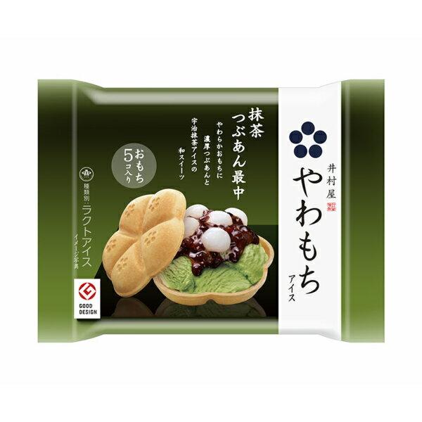 井村屋 やわもちアイス 抹茶つぶあん最中  24入 (冷凍) *