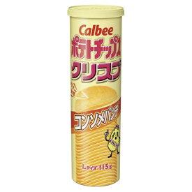 カルビー 115g ポテトチップスクリスプ コンソメパンチ 6入 【ラッキーシール対応】
