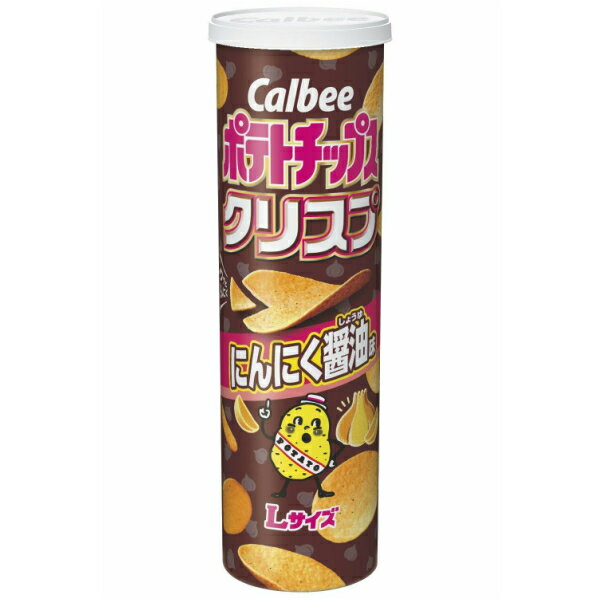 カルビー 115g ポテトチップスクリスプ にんにく醤油味 6入 【ラッキーシール対応】