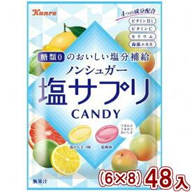 (本州一部送料無料) カンロ ノンシュガー塩サプリキャンディ (6×8)48入 (Y10) 【ラッキーシール対応】