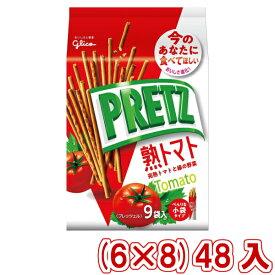 (本州送料無料)江崎グリコ 9袋 プリッツ 熟トマト (6×8)48入 (Y14)