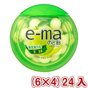 (本州送料無料) 味覚糖 e−maのど飴容器 王林 (6×4)24入 (Y60)