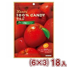 (本州送料無料) カンロ 100%キャンディ りんご (6×3)18入
